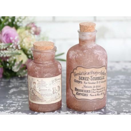 Old french bottle old rose H17/D8,5 cm