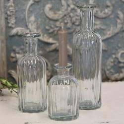 Bottle w.grooves H19/D7 cm