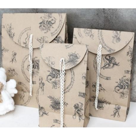 Gift bag (X15) w.angel print 20x30 cm