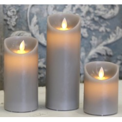 "Battery candle ""Church"" grey"