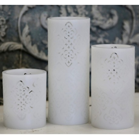 "Battery candle ""Flower"" white"