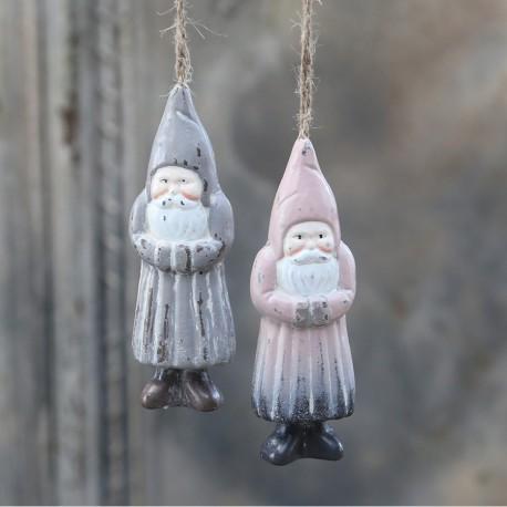 Zawieszka Świąteczna Chic Antique Mikołaj Pudrowy