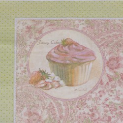 Napkins w.cupcake 17x17 cm 20 pieces