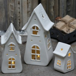 Candle house ceramics (X16) w. battery