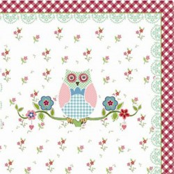 Napkins w.owl print