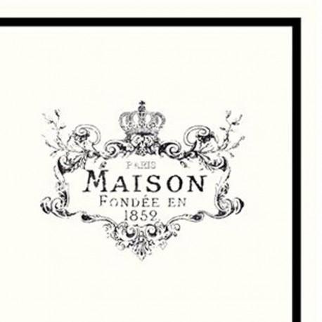 "Napkins w.print ""Maison"""