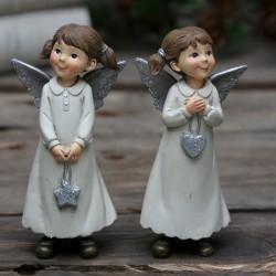 Figurki Świąteczne Aniołki 2szt.