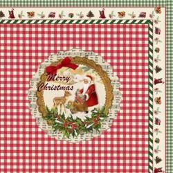 "Napkins w.print ""Merry Christmas"""