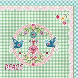 "Napkins w.print ""Peace"""