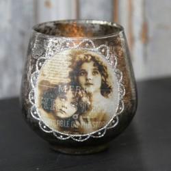 Świecznik Na Tealight Chic Antique z Aniołkami