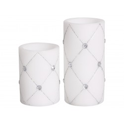"Battery candle ""Diamond"" white"