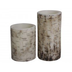 "Battery candle ""Wood"" H10/D7,5 cm"