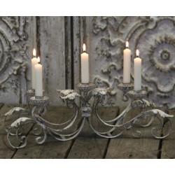 Metalowy Świecznik Chic Antique Pięcioramienny