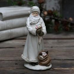 Figurka Świąteczna Mikołaj z Prezentami
