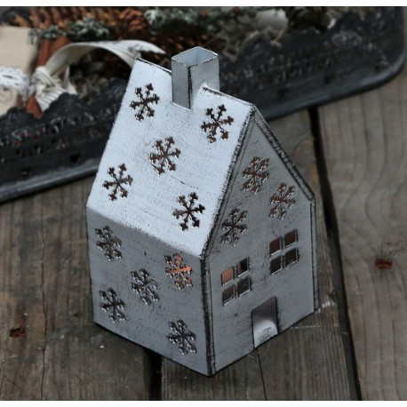 Candle house (X16) w. snowflakes