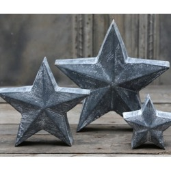 Star (X16) antique zinc 19x19 cm