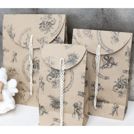 Gift bag (X15) w.angel print 20x30 cm