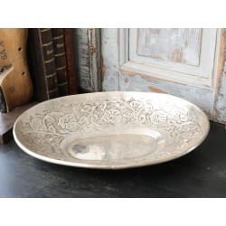 Dish w.pattern oval brass 30x22 cm