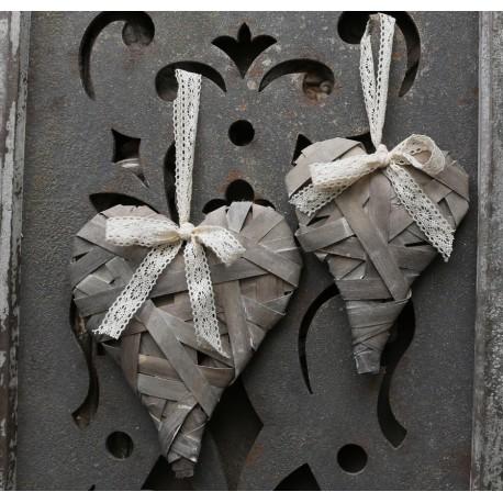 Heart (X16) braided French grey
