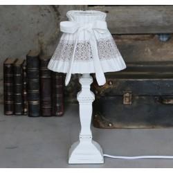 Lampa Stołowa Provence Chic z Koronką