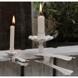 Holder for taper candles antique white