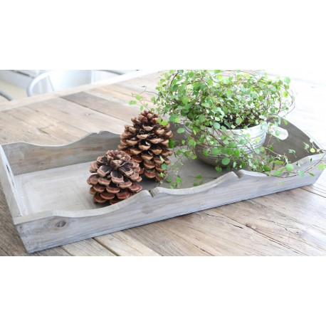 Tray wooden colour H9/B30/L62 cm
