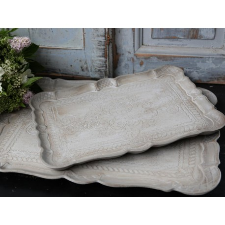 Trays antique sand set of 2
