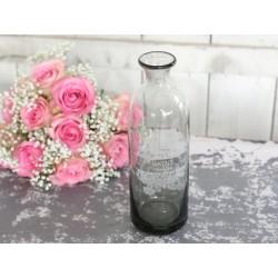 "Vase w.print ""Vintage"" smoked grey"
