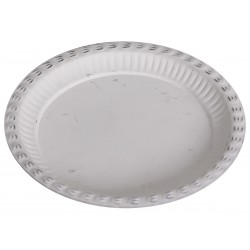 Tray zinc antique white D20 cm