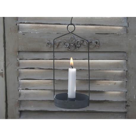 Candlestick zinc H26cm