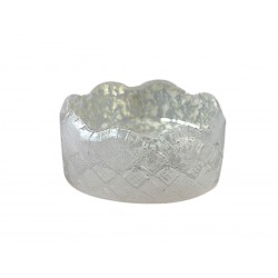 Glass coster grey D5 cm