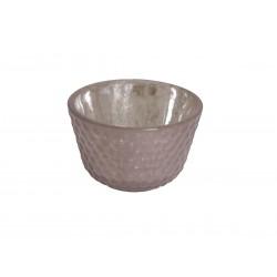 Tealight candlestick w.silver