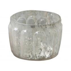Tealight holder grey H5,5/D7 cm