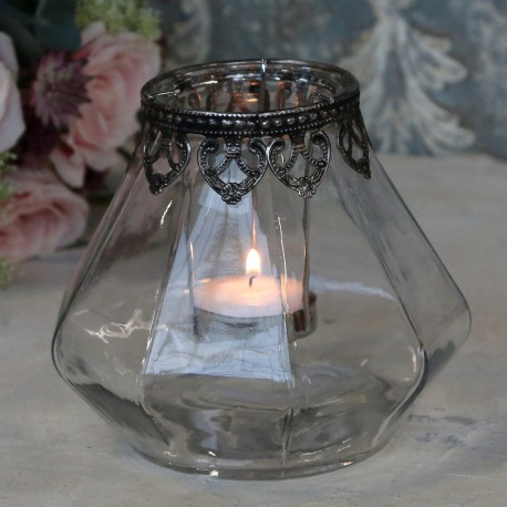 Szklany Lampion Chic Antique 2