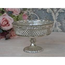 Szklany Puchar Chic Antique Srebrny 2