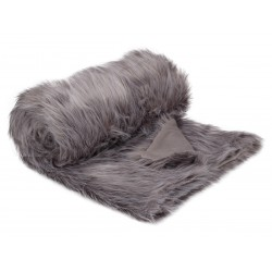 Plaid fur vintage grey 130x180 cm