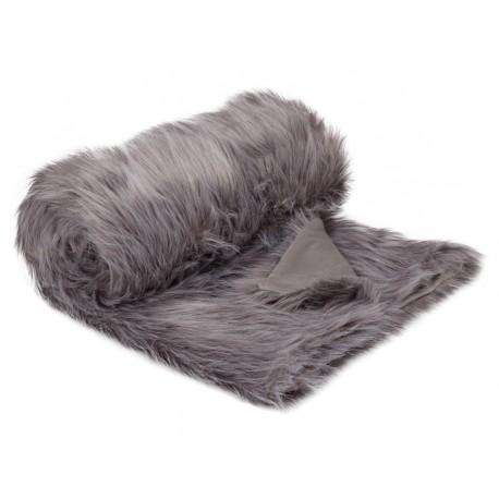 Plaid fur vintage grey 130x180 cm