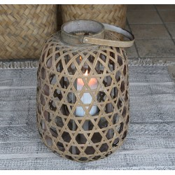 Lampion Rattanowy Chic Antique B