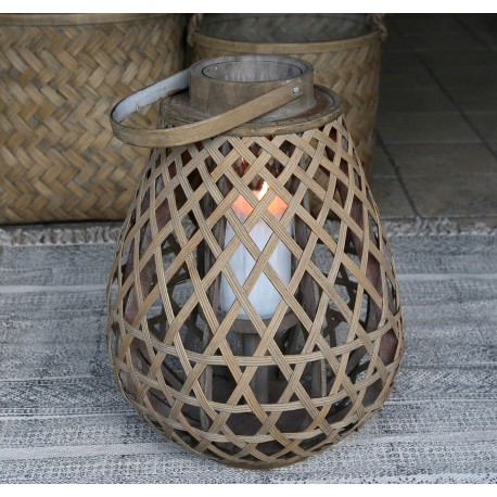 Lampion Rattanowy Chic Antique A