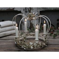 Świecznik Metalowy Chic Antique Korona