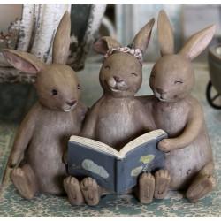 Zajączki Wielkanocne Chic Antique z Książką