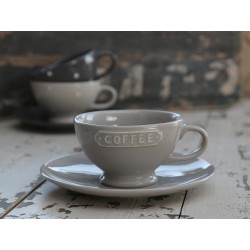 """Latte cup & saucer """"Coffee"""""""