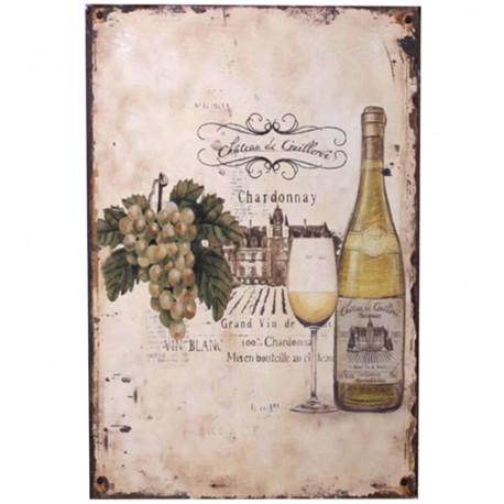 """Sign """"Chardonnay"""" 30x20 cm"""