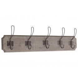 Rack w. 5 hooks nature