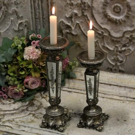 Świecznik Chic Antique z Lusterkami