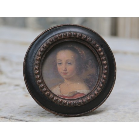 Okrągła Ramka Antique Black