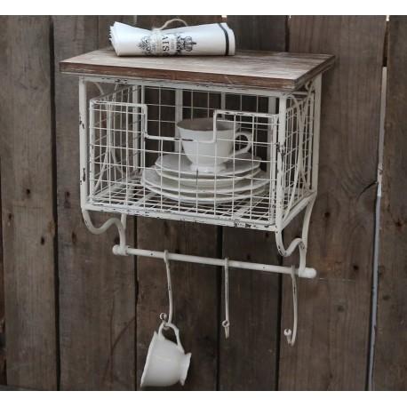 Shelf w. thread draw & hooks
