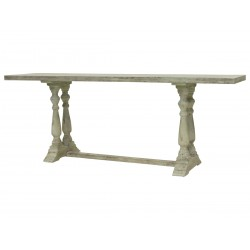French church bench antique verte