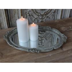 Mirror dish french grey 46x30 cm