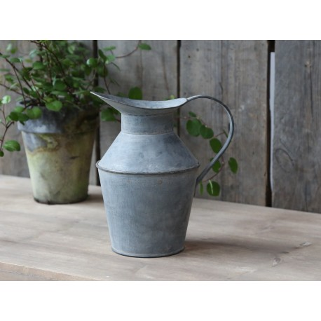 French jug antique zinc deco